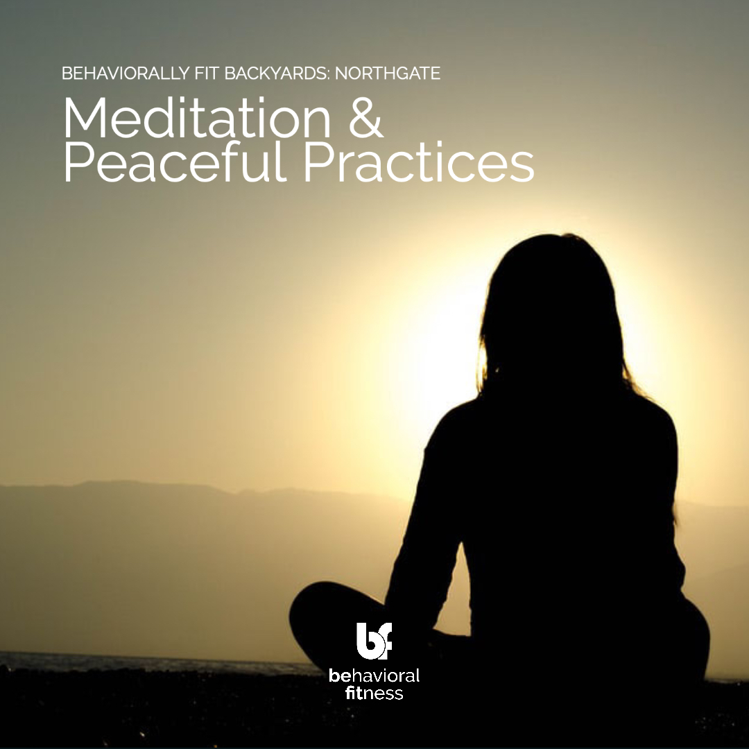 Meditation & Peaceful Practices - Behaviorally Fit Backyards: Northgate